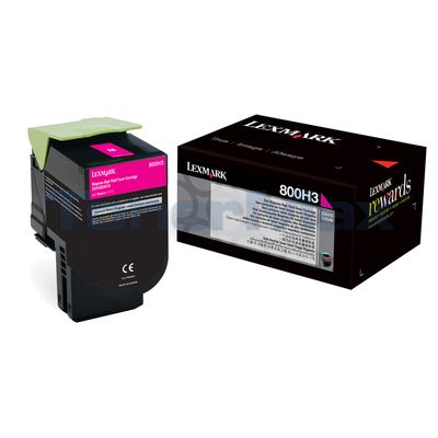 LEXMARK CX410 TONER CARTRIDGE MAGENTA 3K